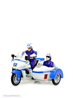 Мотоцикл милиция/полиция с люлькой Технопарк. Цвет: синий, белый