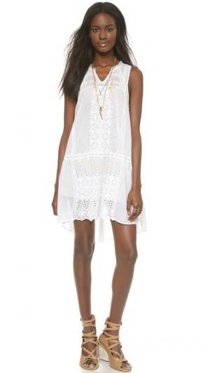 Платье Ritual с вышивкой Burning Torch. Цвет: белый