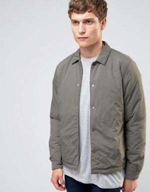 Selected Homme Теплая спортивная куртка. Цвет: серый