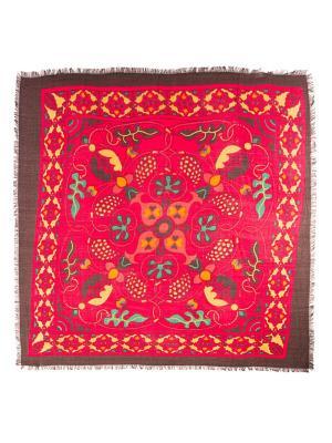 Платок Vita pelle. Цвет: коричневый, красный