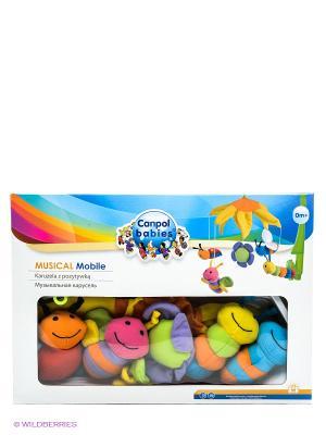 Музыкальная игрушка карусель Canpol babies. Цвет: зеленый, сиреневый, оранжевый, розовый