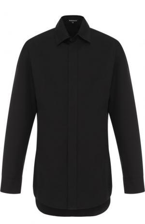 Удлиненная хлопковая рубашка свободного кроя Ann Demeulemeester. Цвет: черный