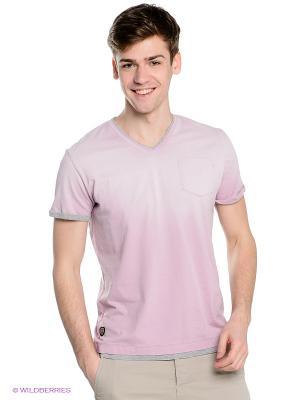 Футболка Fred Mello. Цвет: бледно-розовый, серый