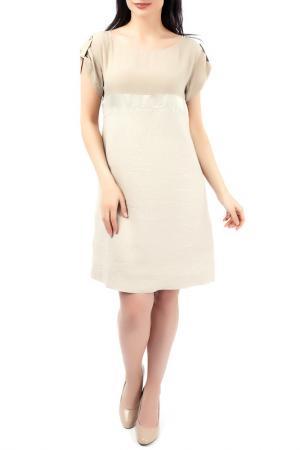 Платье EUROPEAN CULTURE. Цвет: бежевый