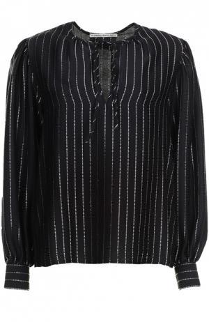Блуза Alessandra Rich. Цвет: черный