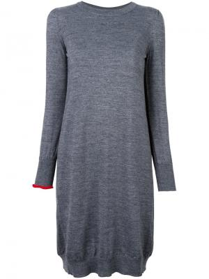 Вязаное платье Erika Cavallini. Цвет: серый