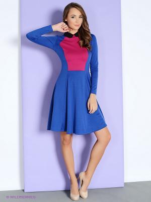 Платье Colambetta. Цвет: синий, розовый, черный
