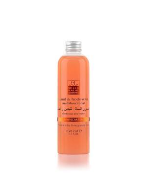 Жидкое мыло для рук и тела с маслом мандарина экстрактом граната MANDARIN MILLA HALAL COSMETICS. Цвет: коралловый