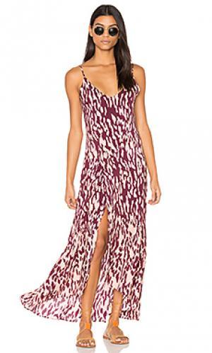 Длинное платье elma Vix Swimwear. Цвет: вишня