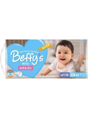 Подгузники Beffys extra dry для мальчиков размер M (5-10 кг.) 44 шт. Beffy's. Цвет: синий