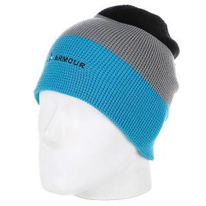 Шапка носок мужская  Stripe Beanie Blue/Grey Armour. Цвет: голубой,серый