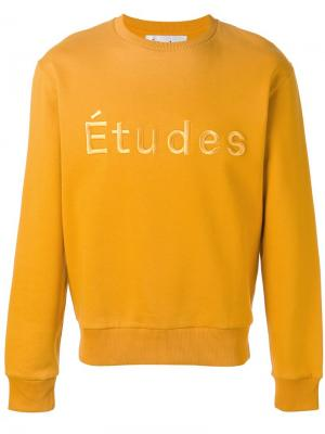 Толстовка с логотипом Études. Цвет: жёлтый и оранжевый