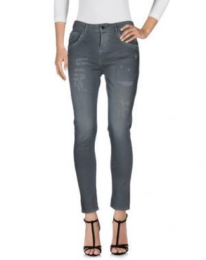 Джинсовые брюки MANILA GRACE. Цвет: свинцово-серый