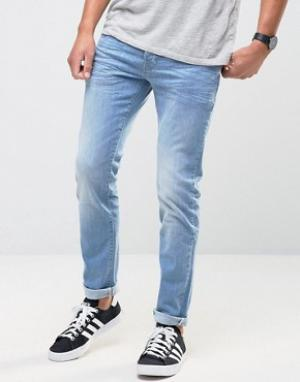 Firetrap Светлые джинсы скинни. Цвет: синий
