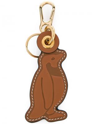 Брелок в форме пингвина Loewe. Цвет: коричневый