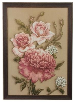 Гобеленовая картина 35х50 см Рапира. Цвет: розовый, зеленый, бежевый