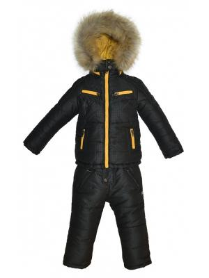 Комплект (куртка, полукомбинезон) BORELLI. Цвет: черный