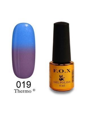 Гель-лак F.O.X Thermo 019, 6 ml. Цвет: голубой, лиловый