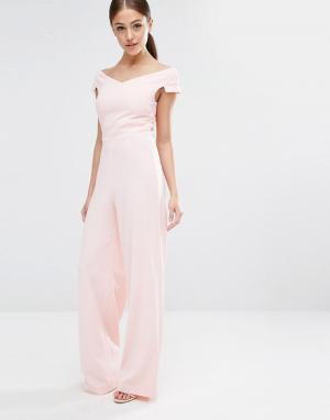 Vesper Комбинезон с широкими штанинами. Цвет: розовый