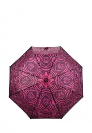 Зонт складной Desigual. Цвет: фуксия