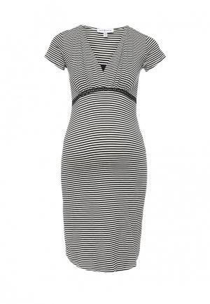 Платье домашнее Envie de Fraise. Цвет: черно-белый