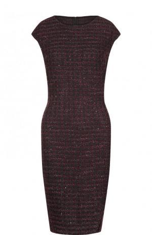 Приталенное буклированное мини-платье St. John. Цвет: фиолетовый