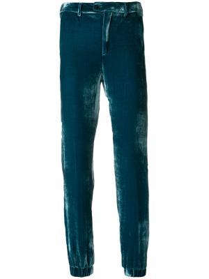 Прямые укороченные брюки Pt01. Цвет: синий