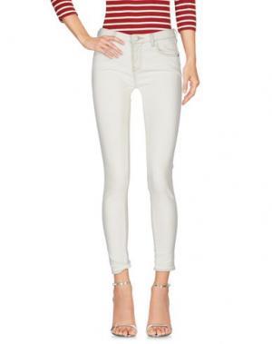 Джинсовые брюки ST. STUDIO. Цвет: слоновая кость
