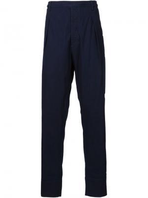 Свободные брюки со складками Lemaire. Цвет: синий