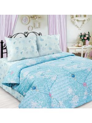 Постельное белье Любимый Дом. Цвет: серо-голубой