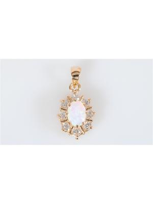 Подвеска с японским опалом Lotus Jewelry. Цвет: белый