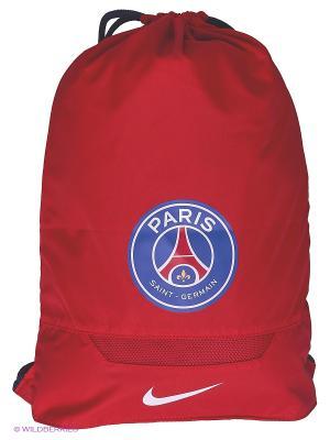 Рюкзак ALLEGIANCE PSG GYMSACK Nike. Цвет: красный, черный, синий