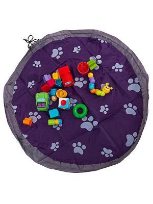 Сумка-коврик Лужайка, 80 см, фиолетовая Homsu. Цвет: фиолетовый