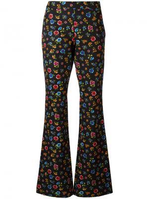 Расклешенные брюки с узором Moschino. Цвет: чёрный