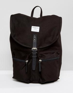 Sandqvist Черный рюкзак Roald. Цвет: черный