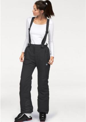 Зимние брюки POLARINO. Цвет: черный