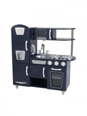 Деревянная кухня для мальчиков Винтаж, цвет Синий (Navy Vintage Kitchen) KidKraft. Цвет: синий
