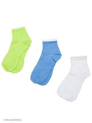Носки БРЕСТСКИЕ. Цвет: белый, голубой, светло-зеленый