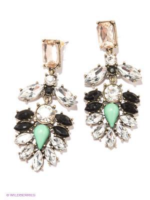 Серьги Milana Style. Цвет: прозрачный, черный, бронзовый