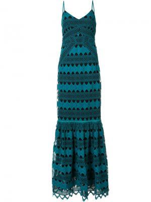 Вечернее платье Sandra Zac Posen. Цвет: зелёный