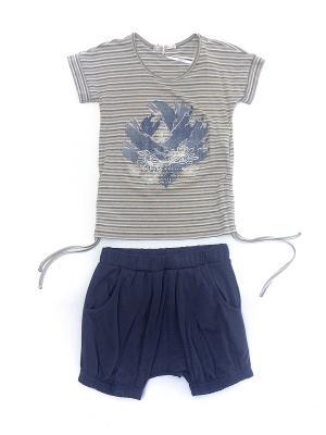 Комплект для девочки La Pastel. Цвет: бежевый, синий, голубой
