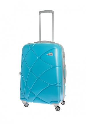 Чемодан 74 л (M) Carlton. Цвет: голубой