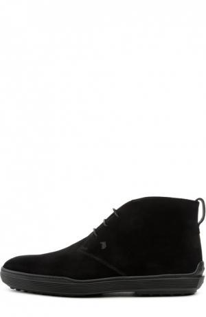 Замшевые ботинки GOMMA XF Tod's. Цвет: черный