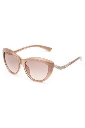 Очки солнцезащитные Valentino. Цвет: бежевый