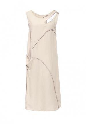 Платье D.VA. Цвет: бежевый