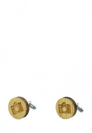 Запонки Churchill accessories. Цвет: бежевый