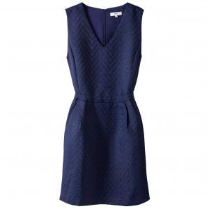 Платье короткое однотонное без рукавов SUNCOO. Цвет: синий