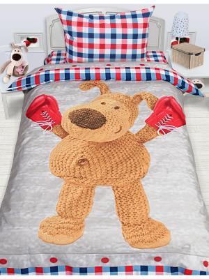 Комплект постельного белья 1,5 сп. Boofle боксер. Цвет: серый