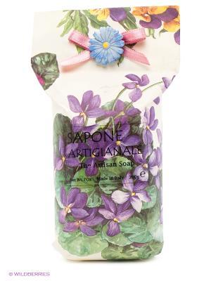 Натуральное косметическое мыло  аромат Фиалка Iteritalia. Цвет: белый