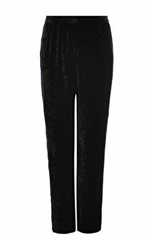 Однотонные бархатные брюки Alexander Terekhov. Цвет: черный